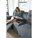 Best Home Furnishings Unity Casual Power Space Saver Reclining  Loveseat with Cupholder Storage Console