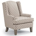 Best Home Furnishings Wing Chairs Andrea Wing Chair - Item Number: 0170-28843