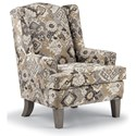 Best Home Furnishings Wing Chairs Andrea Wing Chair - Item Number: 0170-33226