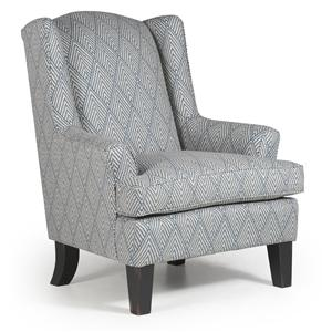 Morris Home Furnishings Chairs - Wing Back Andrea Wing Chair