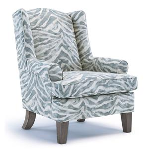 Morris Home Furnishings Chairs - Wing Back Amelia Wing Back Chair