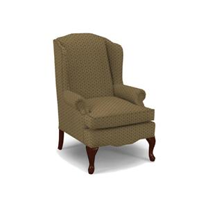 Best Home Furnishings Wing Chairs Esther Queen Anne Wing Chair