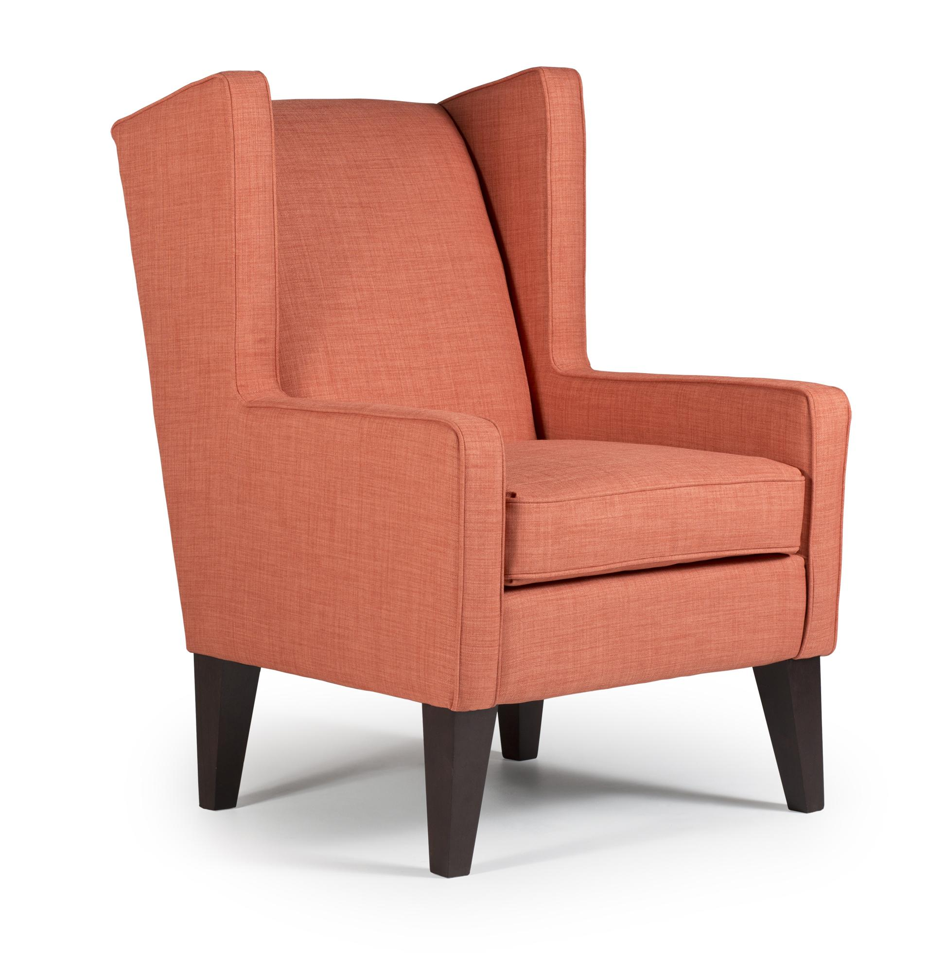 Best Home Furnishings Wing Chairs Wing Chair - Item Number 7170  sc 1 st  Hudsonu0027s Furniture & Best Home Furnishings Wing Chairs 7170 Karla Modern Wing Chair ...