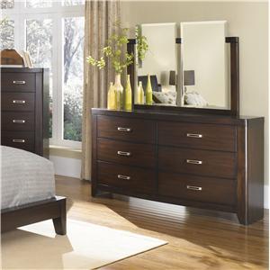 BK Home Pembrooke Contemporary Espresso 6-Drawer Dresser