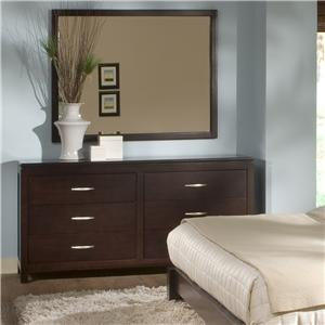 BK Home Perimeter Place Dresser and Mirror Combo