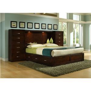 bk home perimeter place perimeter bookcase queen bed pier group