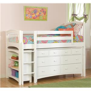Bolton Mulberry -- Mulberry Twin Loft Bed with Drawers