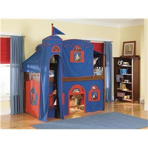 Bolton Mulberry Mulberry Loft Bed w/Curtain, Tent and Tower