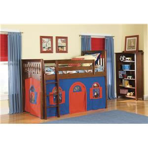 Bolton Mulberry Mulberry Twin Loft Bed with Bottom Tent