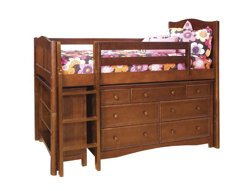 Morris Home Mulberry Mulberry Twin Loft Bed with Drawers - Item Number: 475181691