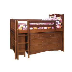 Bolton Mulberry Mulberry Twin Loft Bed with Drawers