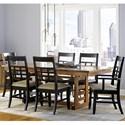 Borkholder Sunset Hills 7 Piece Dining Set - Item Number: 47-8001LF1+2x9052ACX+4x9052SCX
