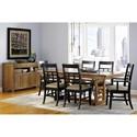 Borkholder Sunset Hills 7 Piece Dining Set with Trestle Table
