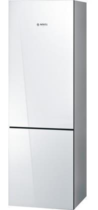 """Bosch Bottom-Freezer Refrigerators 24"""" Glass Door Bottom Freezer Refrigerator - Item Number: B10CB80NVW"""
