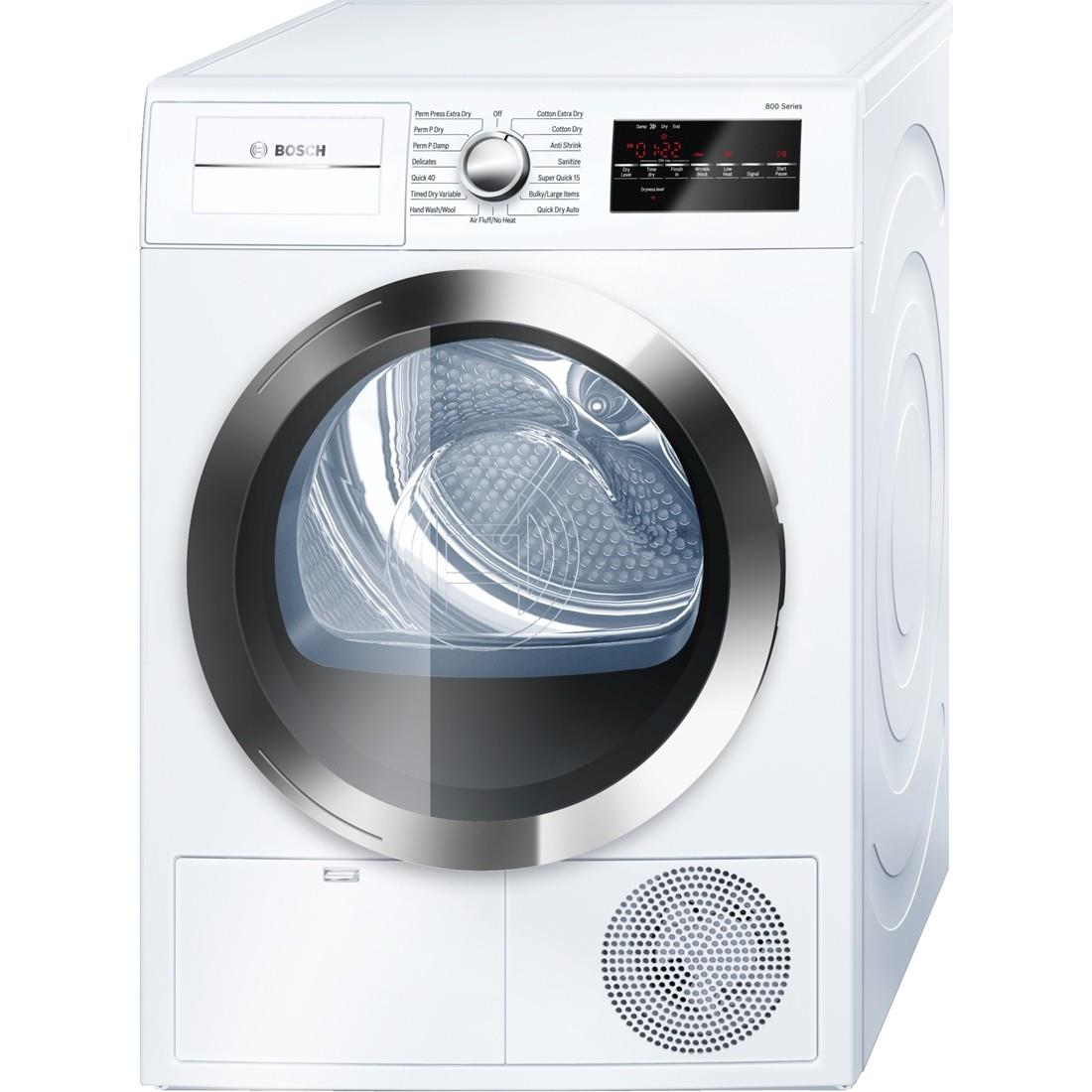 """Bosch Dryers - Electric ENERGY STAR® 24"""" Compact Condensation Dryer - Item Number: WTG86402UC"""