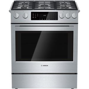 "Bosch Gas Ranges 4.8 cu. ft. 30"" Slide-in Gas Range"