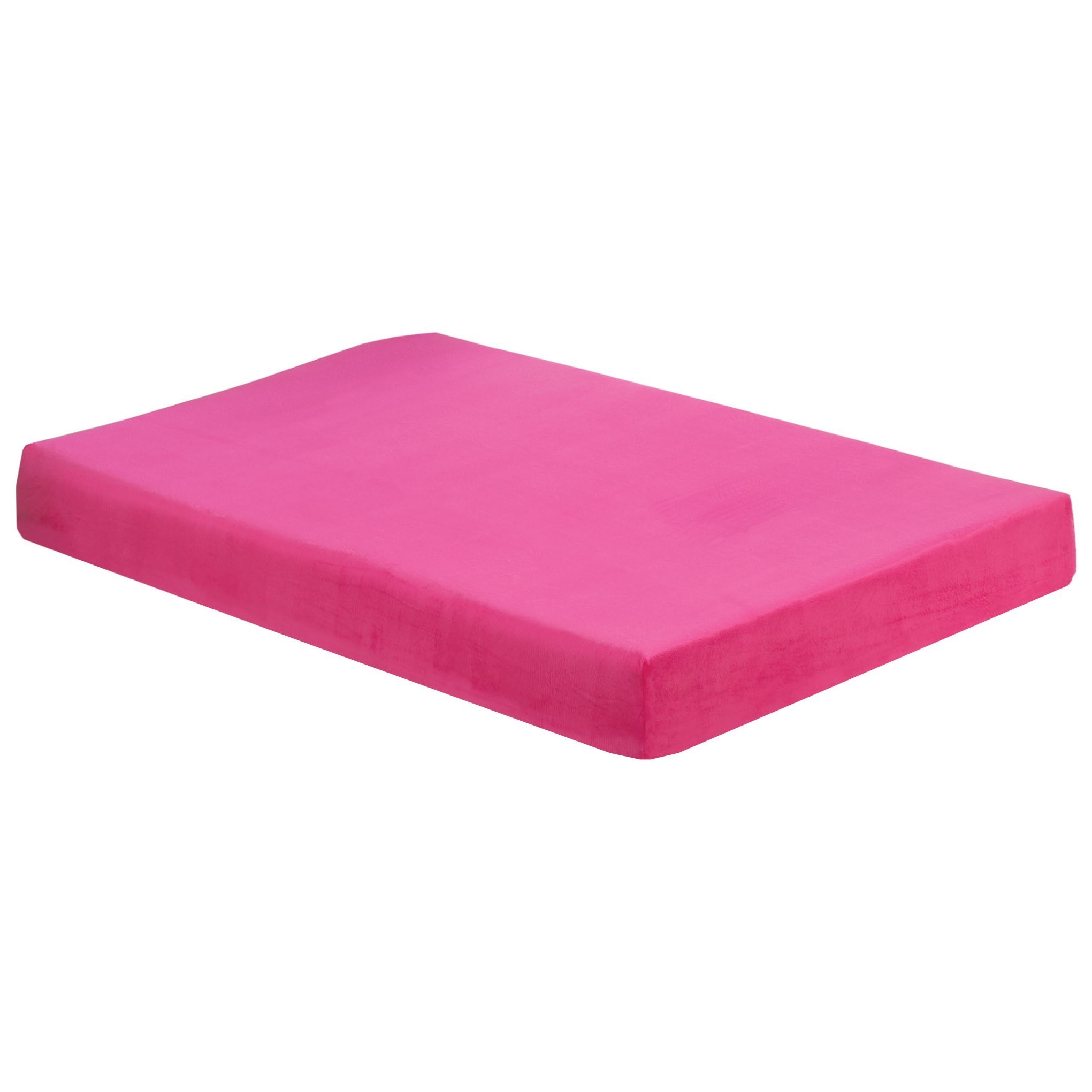 "Full 7"" Raspberry Memory Foam Mattress"