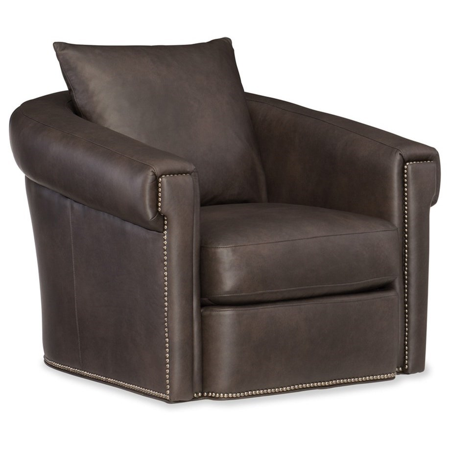 Andre Swivel Glider by Bradington Young at Mueller Furniture