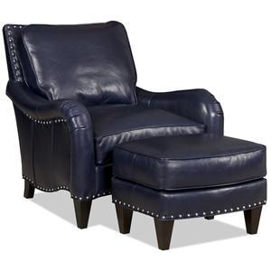Bradington Young Barth chair & ottoman