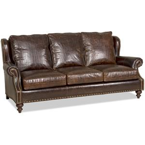 FB Leather Bosworth Stationary Sofa 8-Way Tie