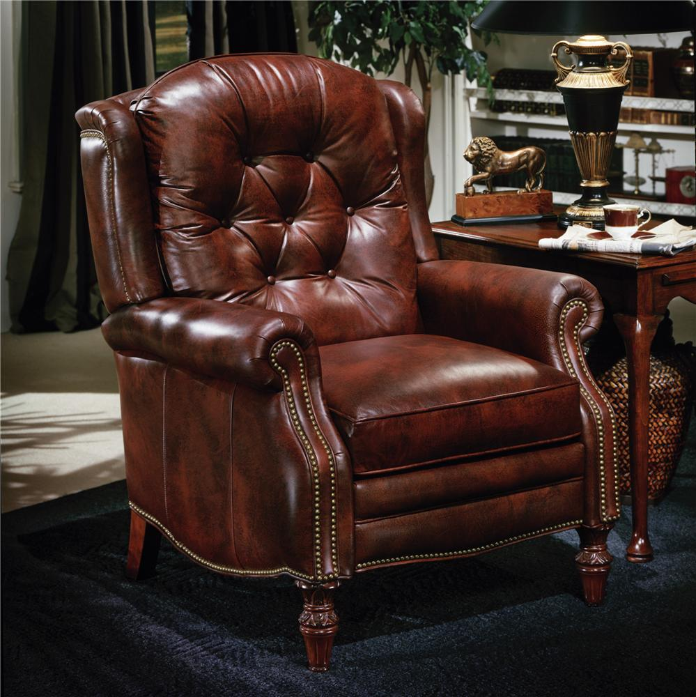 Bradington Young Chairs That Recline Victoria High Leg Lounger With Brass Nails Belfort