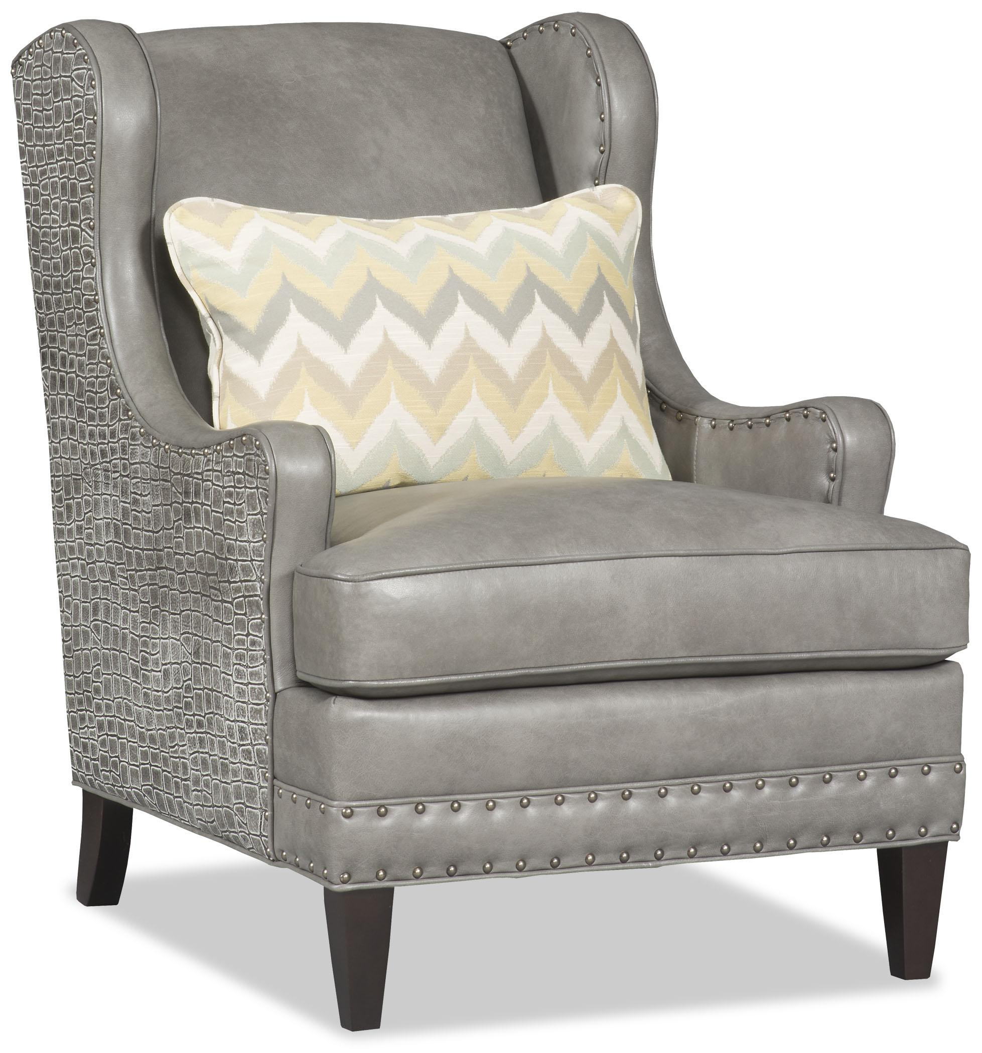 Club Chairs Cagney Wing Back Club Chair With Nailheads By Bradington Young