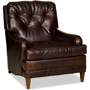 Bradington Young Club Chairs Stationary Chair 8-Way Tie