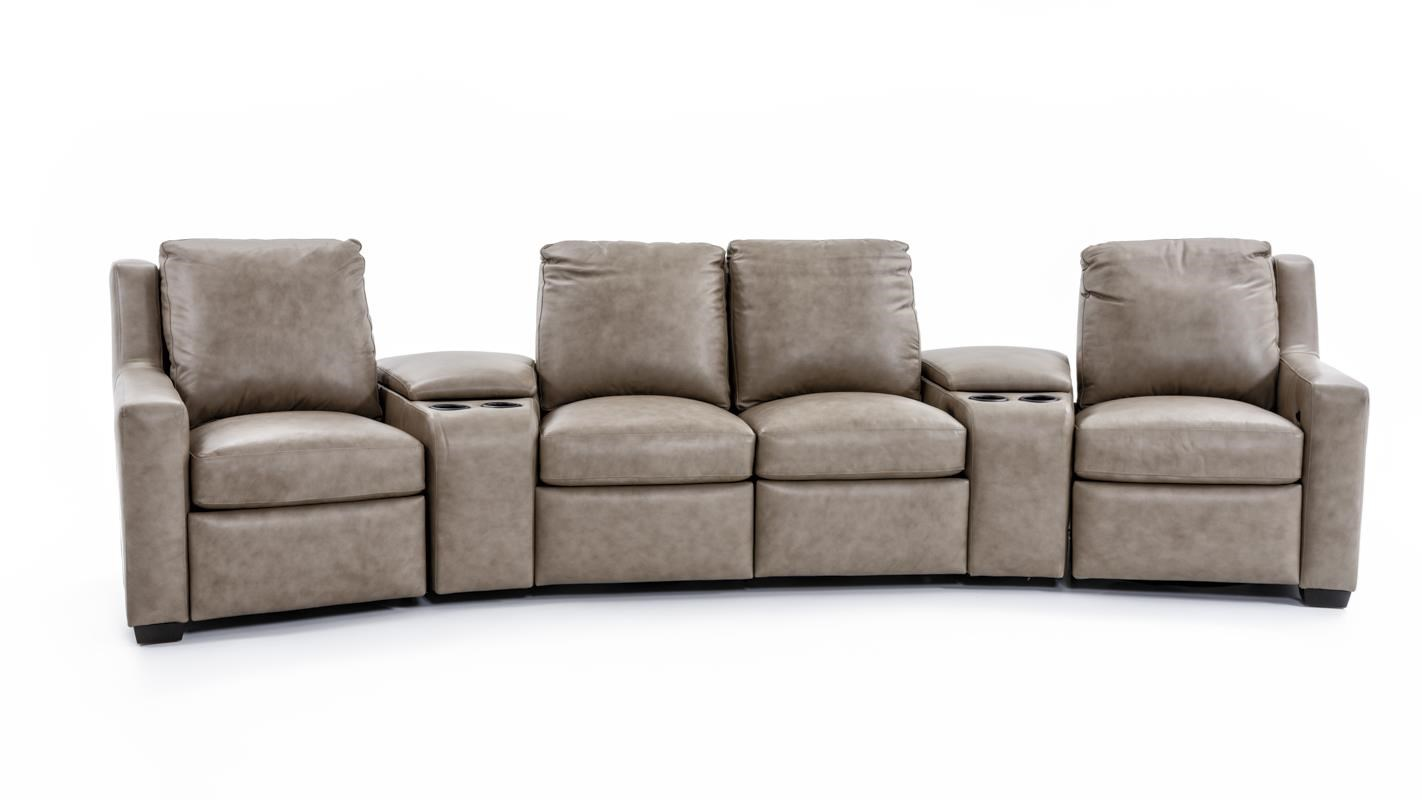 Bradington Young Connery 3 Pc Power Reclining Sectional Sofa - Item Number: 922 Sectional Taupe