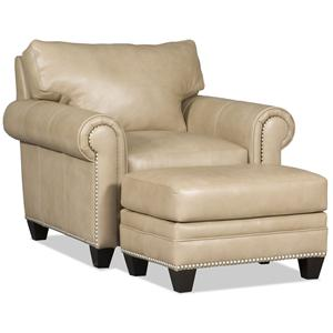 Bradington Young Daylen Chair and Ottoman