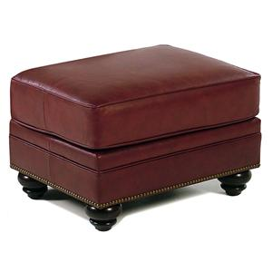 Bradington Young So You Traditional Leather Ottoman