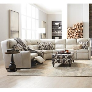 Bradington Young Dixon 3 Pc Power Reclining Sectional Sofa