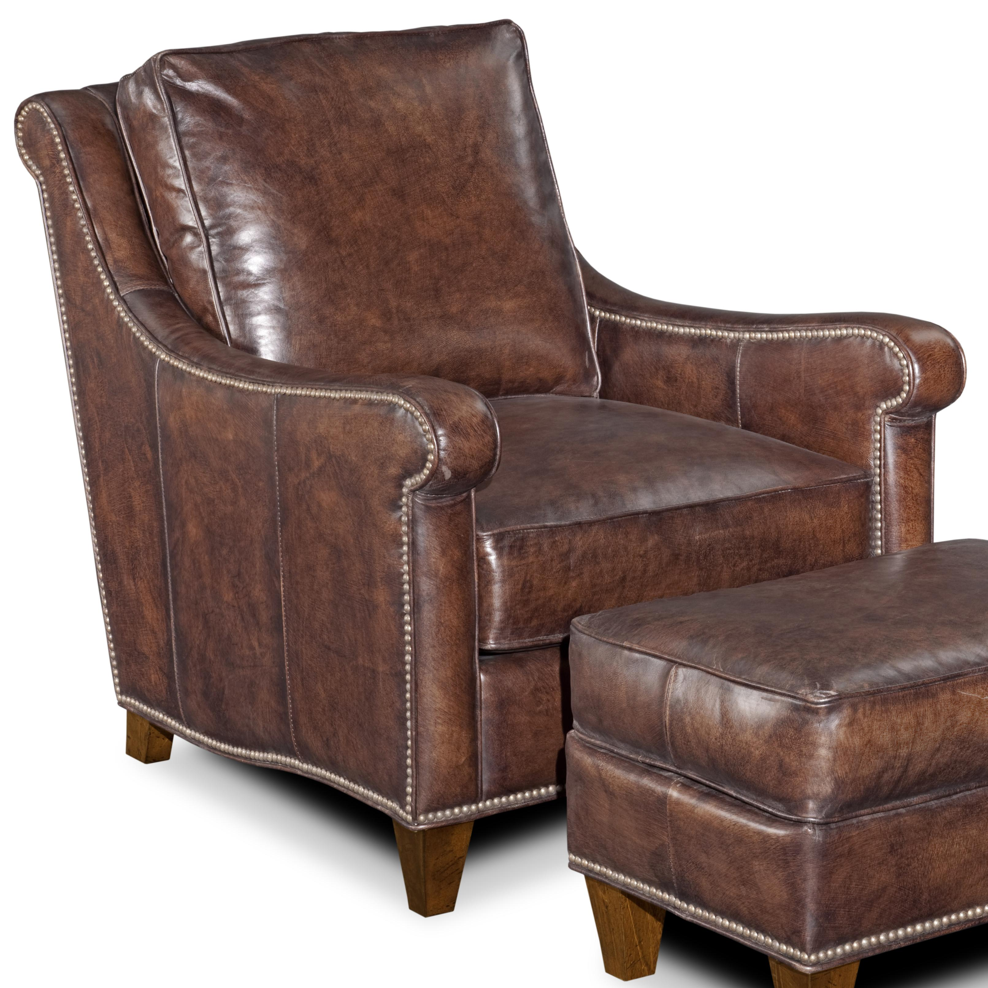 Delicieux Gryphon Comfortable Classic Leather Club Chair With Nail Head Trim By Bradington  Young