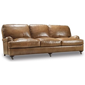FB Leather Hamrick Sofa w/ Casters