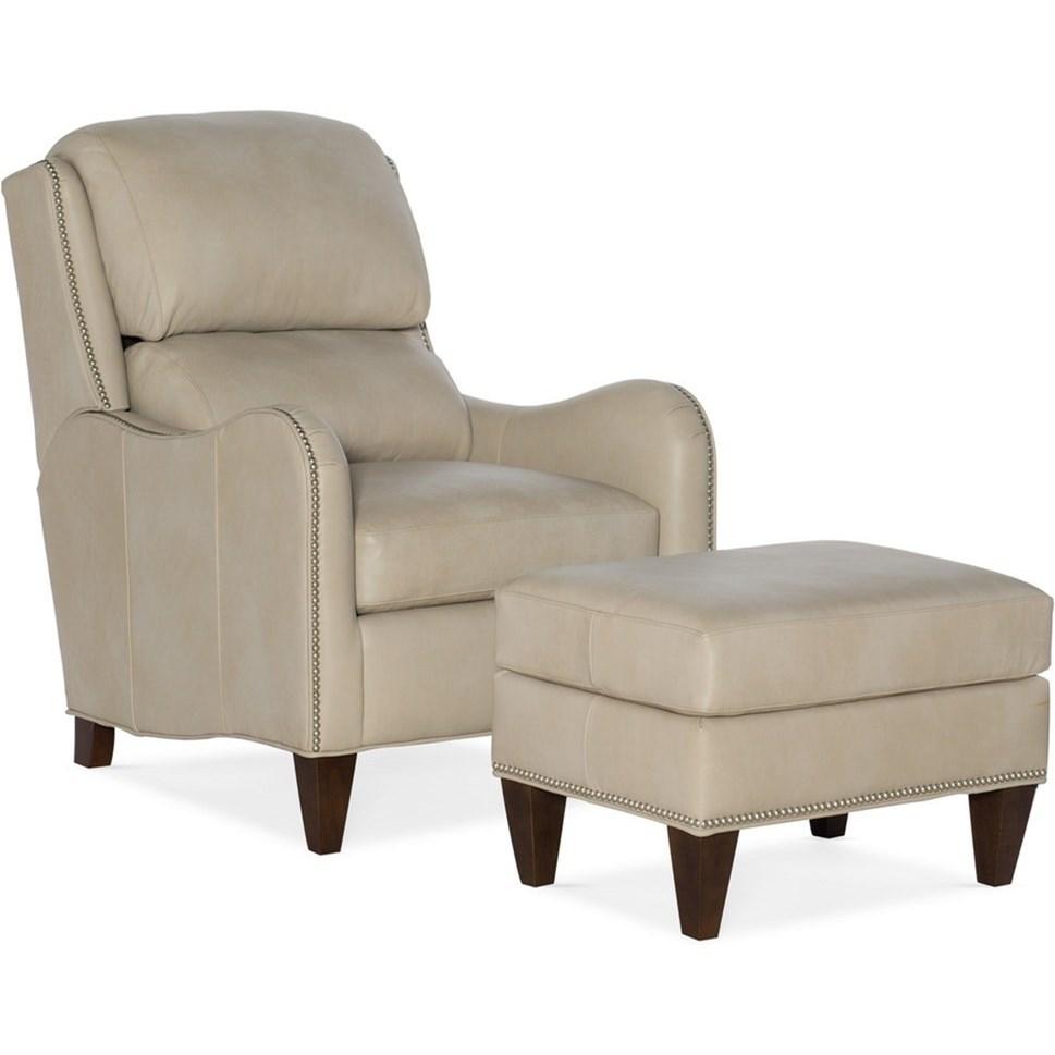 Tilt-Back Chair and Ottoman Set