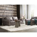 Bradington Young Pacifica Transitional Chair with Large Rolled Arms and Nailhead Border