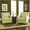 Bradington Young Swivel Tub Chairs Paxton Contemporary Glider Tub Chair - 328-25G - Shown in Room Setting