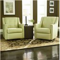 Bradington Young Swivel Tub Chairs Paxton Contemporary Swivel Glider Tub Chair - 328-25SG - Shown in Room Setting