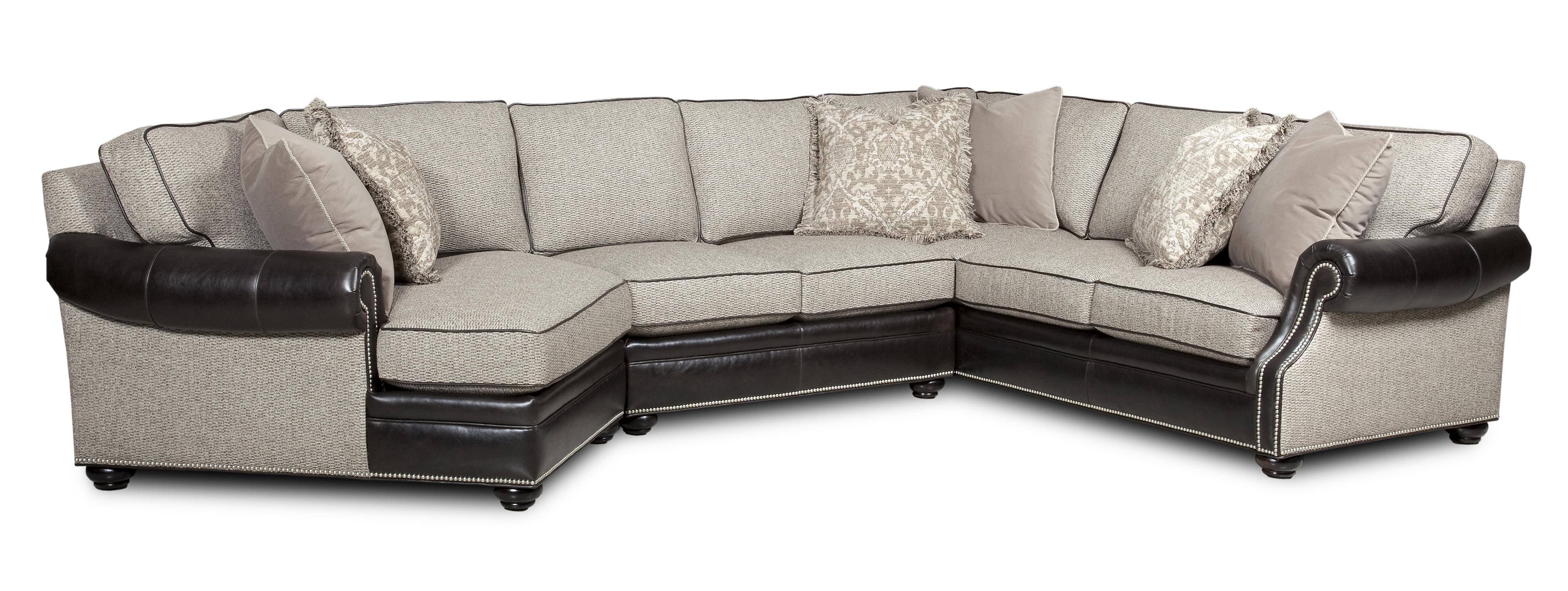 bradington young warner three piece sectional sofa with laf cuddler ahfa sofa sectional dealer locator