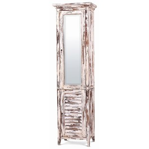 Bramble Aries Shutter Tall Bath Cabinet w/ Mirror