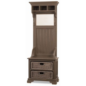 Bramble Homestead Narrow Hallstand with Rattan Baskets