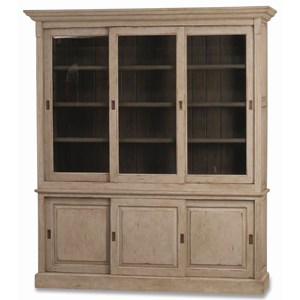 "Bramble Homestead Hudson 88"" Bookcase w/ 3 Sliding Doors"