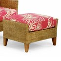 Braxton Culler 1965 Wicker and Rattan Ottoman - Item Number: 1965-009