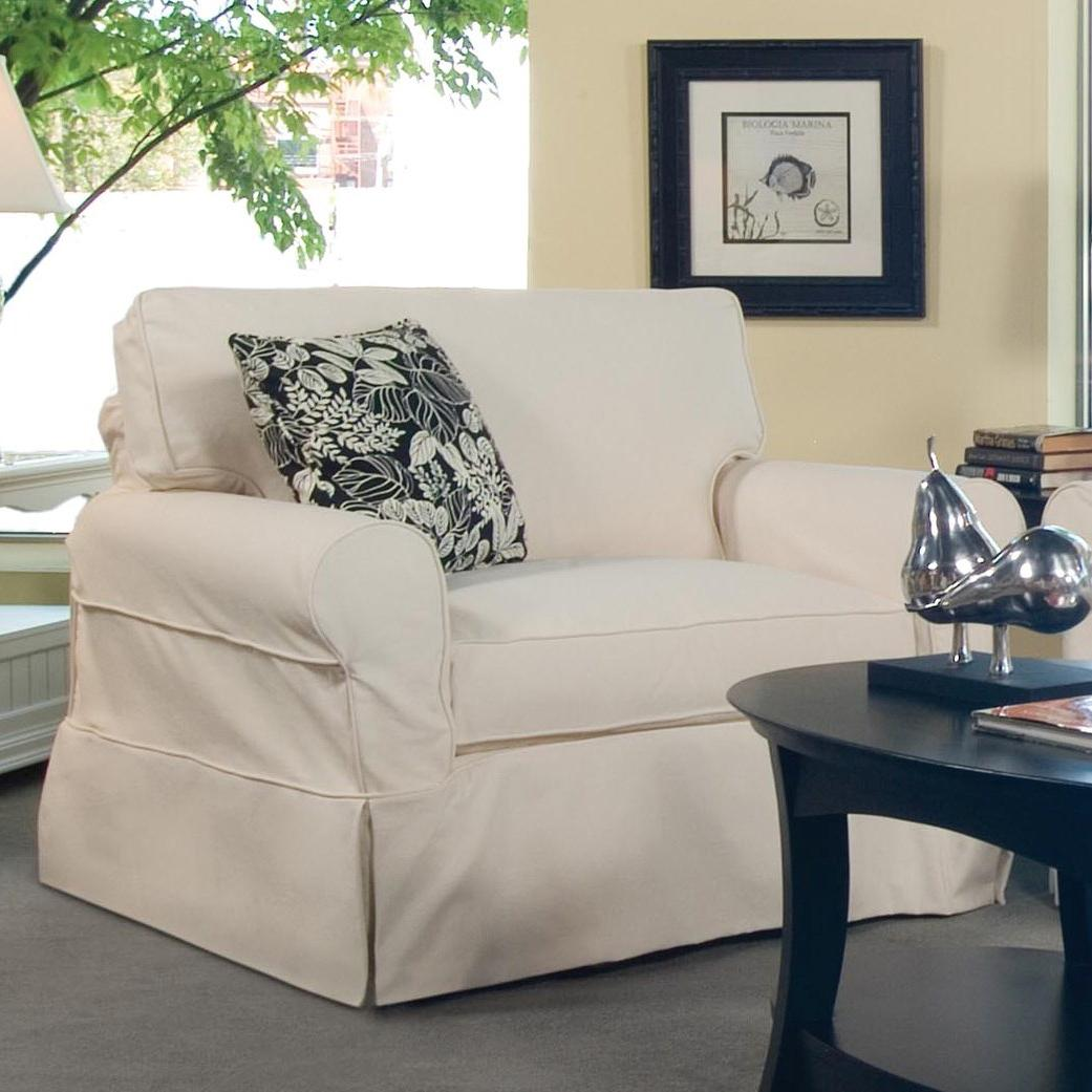 728 Casual Upholstered Slipcover Chair by Braxton Culler at Hudson's Furniture