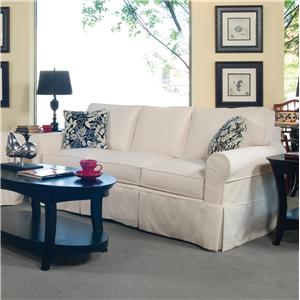 3-Seater Stationary Sofa with Slipcover