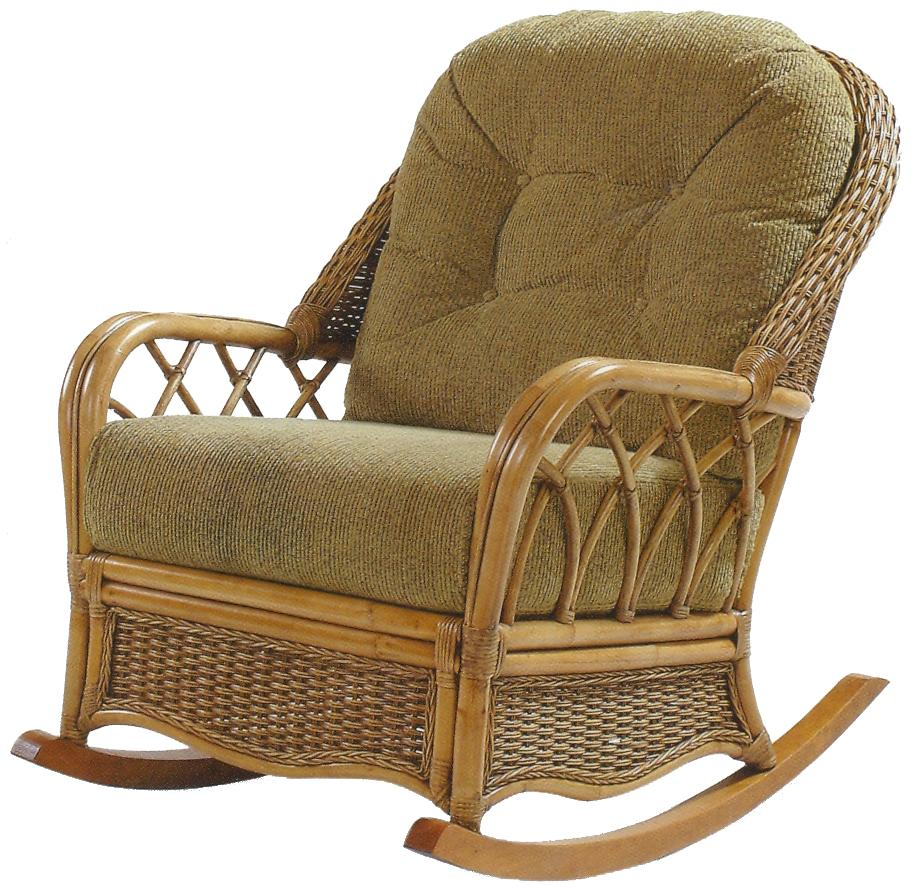 Everglade Wicker Rattan Rocker by Braxton Culler at Esprit Decor Home Furnishings