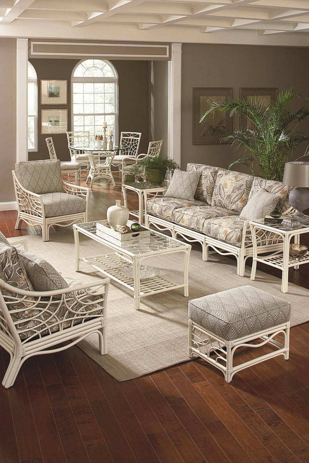 Braxton Culler 909 Tropical Rattan Coffee Table With