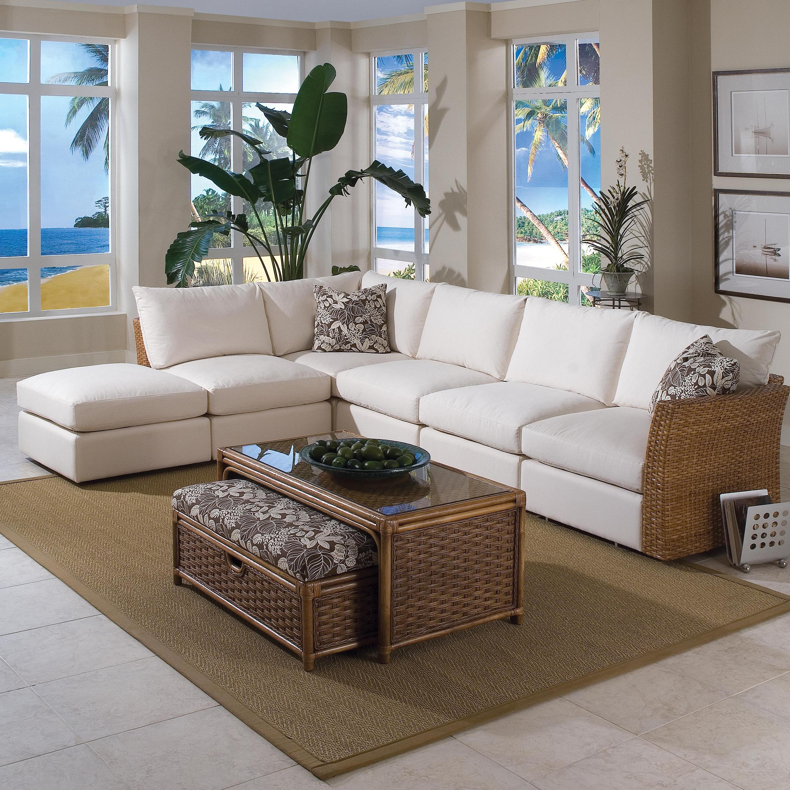 Braxton Culler Grand Water Point Tropical Sectional Sofa With Two  ~ Sectional Sofa New Orleans