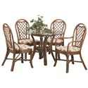 Vendor 10 979 Single Pedestal Dining Table - Shown with Side Chairs and Arm Chair