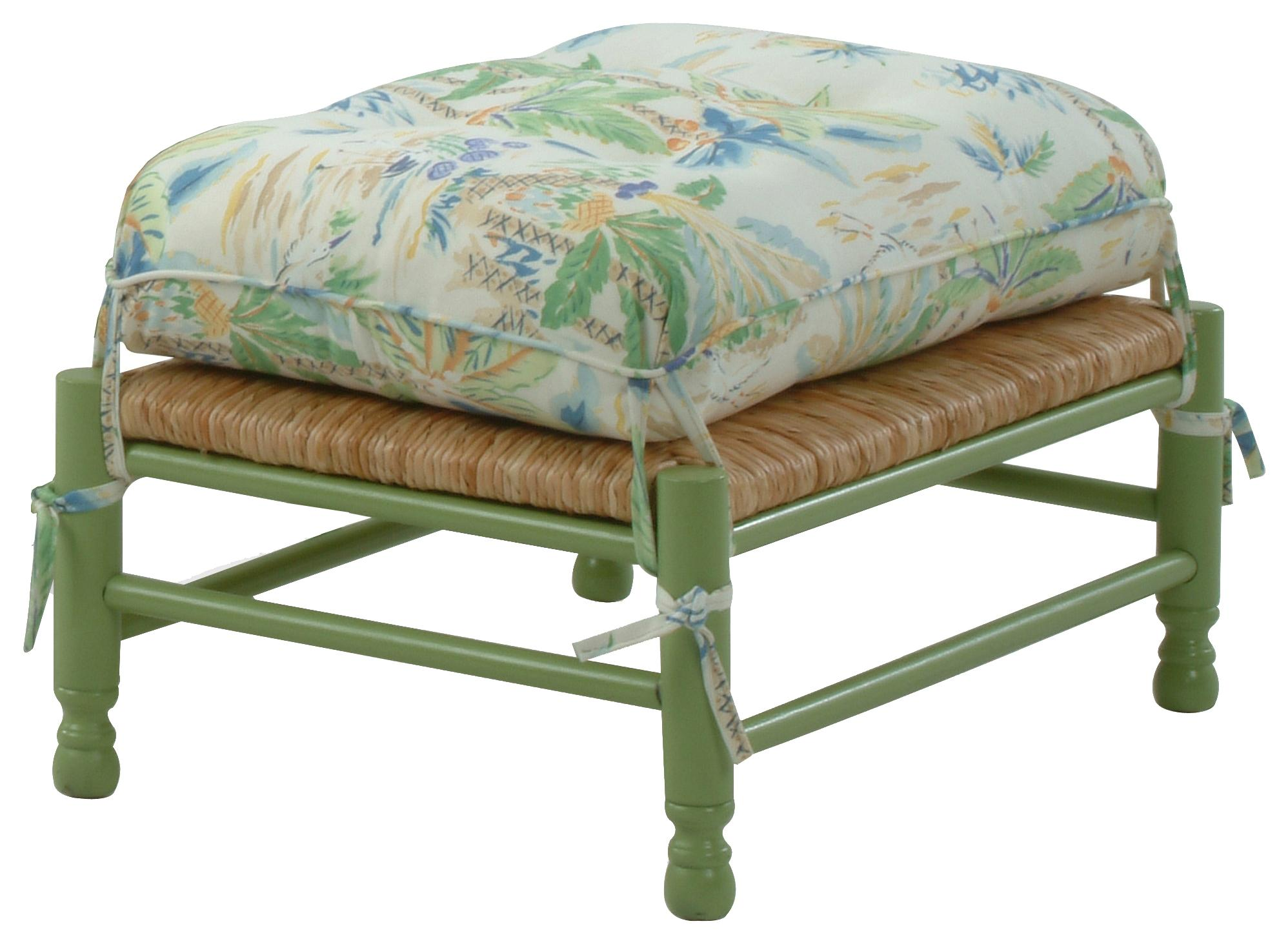 Coastal Style Vineyard Ottoman
