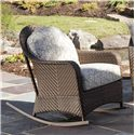 Vendor 10 Belle Isle Woven Rocker w/ Rounded Arms